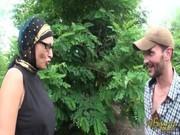 Hot Syrian slut are riding their neighbors hard dick