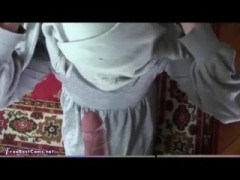 Real Arab In Hijab Rough Throatfucking Gagging Deepthroat To Facial Cumshot